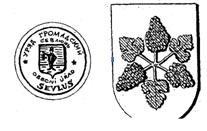 Печать і старий герб Виноградова