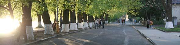 Ужгород. Набережна Незалежності