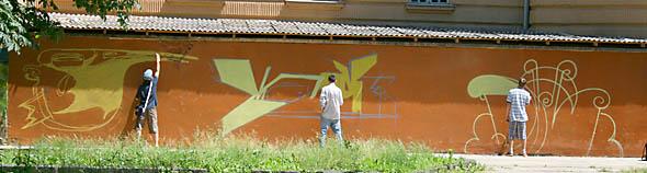 Ужгород. Нове граффіті на 1-й школі