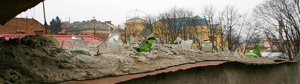 Паркан в Ужгороді. Закарпаття