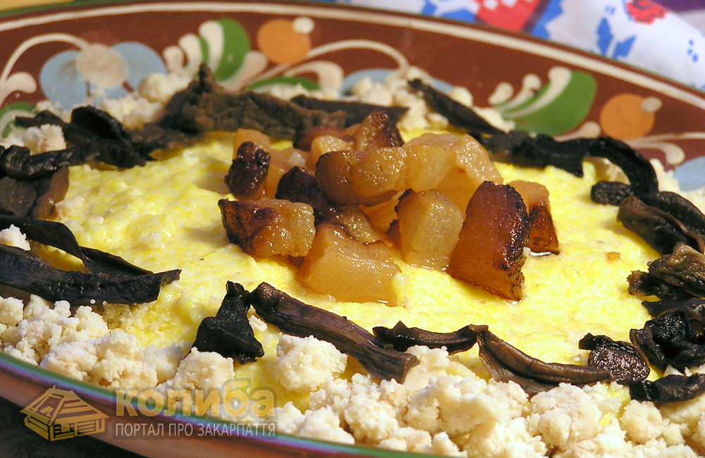 Токан, мамалига - Інтернаціональна страва
