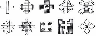 Закарпатська писанка, символ Хрест